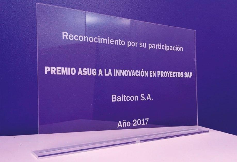 Reconocimiento ASUG Innovación Proyectos SAP 2017