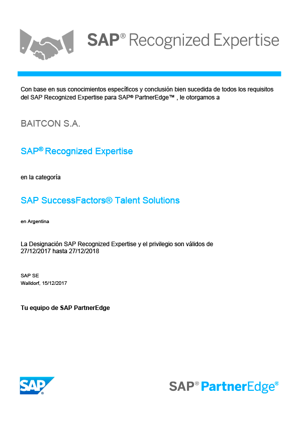 sap recognized expertise successfactors talent